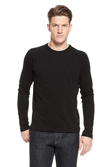 'Sassari  ' | Cotton Crewneck T-Shirt, Black