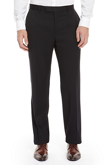 'James' | Classic Fit, Virgin Wool Dress Pant, Dark Blue