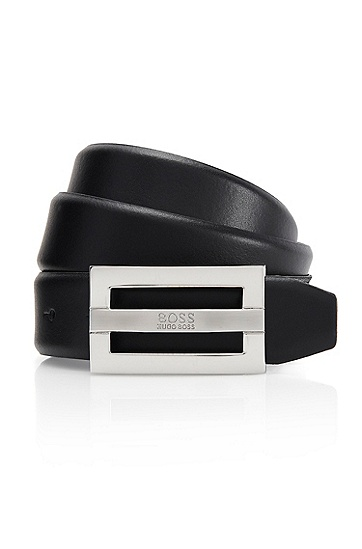'Benson' | Leather Belt, Black