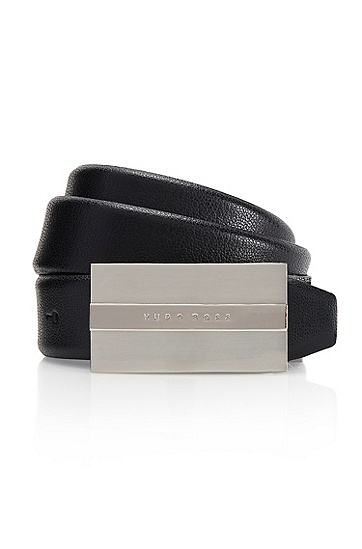 'Baxter' | Leather Belt , Black