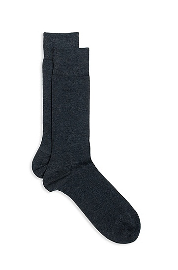 'RS Design US  ' | Stretch Cotton Solid Socks, Charcoal