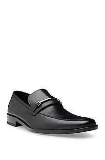 'Carl ' | Leather Buckle Detail Loafer