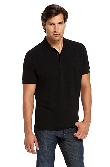 'Ferraram' | Regular Fit, Cotton Polo Shirt, Black