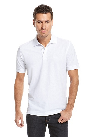 'Ferraram' | Regular Fit, Cotton Polo Shirt, White