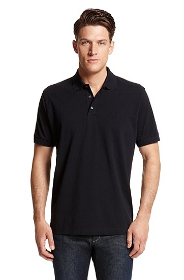 'Ferraram' | Regular Fit, Cotton Polo Shirt, Dark Blue
