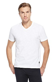 'Eraldo' | Cotton V-Neck T-Shirt