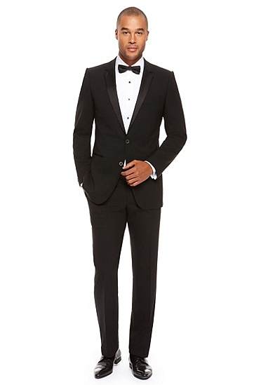'Aikin/Hollo' | Slim Fit, Notch Lapel Tuxedo, Black