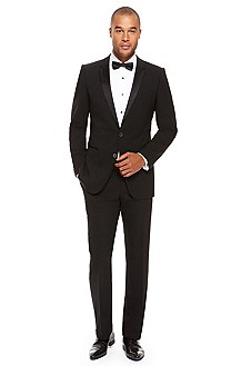 'Aikin/Hollo' | Slim Fit, Stretch Wool Tuxedo