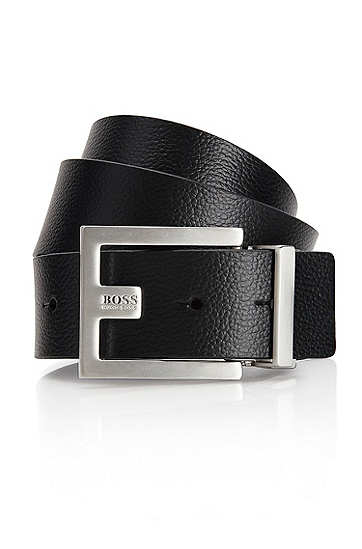 'Fleming' | Leather Belt , Black