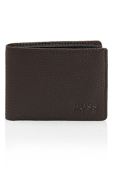 'Beckley' | Small Leather Wallet, Open Brown
