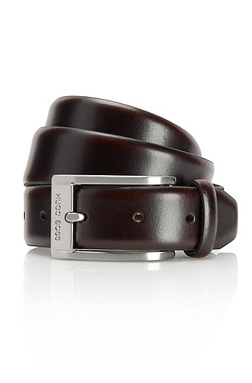 'Ugos' | Leather Belt , Medium Brown