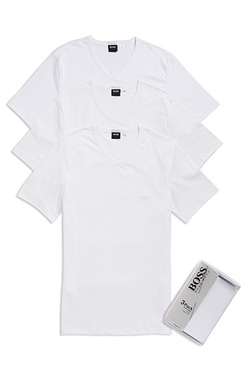 3-Pack Classic V-Neck T-Shirt, White