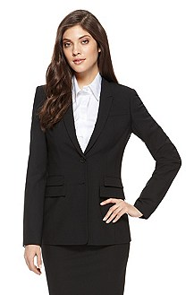 'Juicyra' | Regular Fit, Stretch Wool Blazer