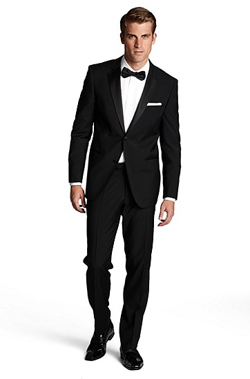 'Stars/Glamour ' | Modern Fit, Notch Lapel Tuxedo, Black
