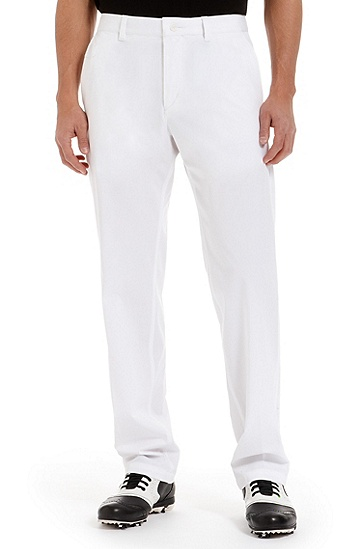 'Hassypro' | Regular Fit, Performance Blend Casual Pants, White