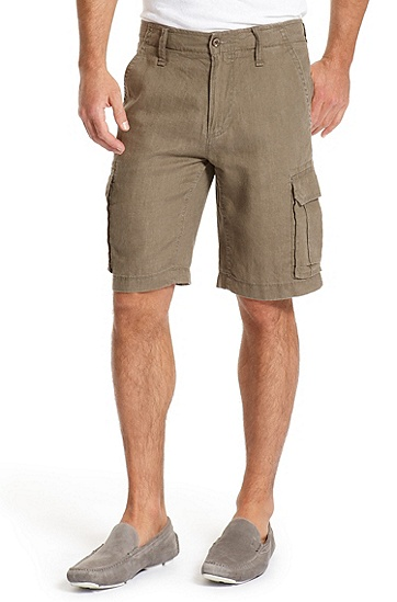 Regular Fit Cargo 'Crew-W' Shorts, Dark Brown