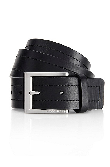 'Ubarto' | Leather Belt , Black