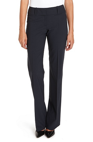 'Tuliana' | Stretch-Wool Dress Pant, Navy