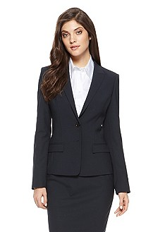 'Jaelle' | Regular Fit, Stretch-Wool Blazer