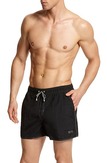 Mid-Thigh 'Lobster' Swim Short, Black
