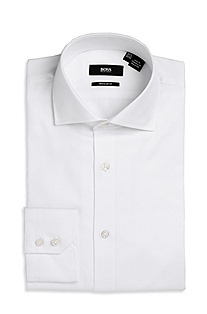 'Gerald ' | Classic Fit, Spread Collar Dress Shirt