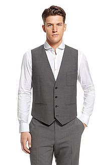 'Wuto ' | Slim Fit, Wool-Blend Vest