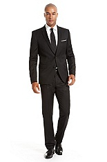 'Aeron/Hamen' | Extra Slim Fit, Virgin Wool Superblack Suit
