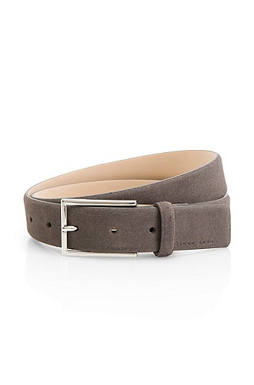 'Gavriol' | Suede Belt, Charcoal