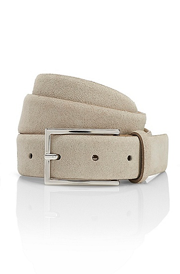 'Gavriol' | Suede Belt, Medium Grey
