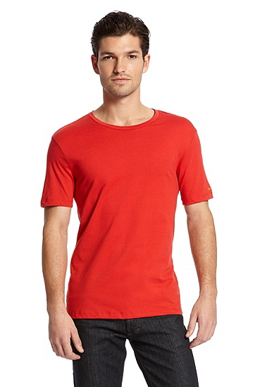 Basic 'Shirt SS RN OM' T-Shirt, Medium Red