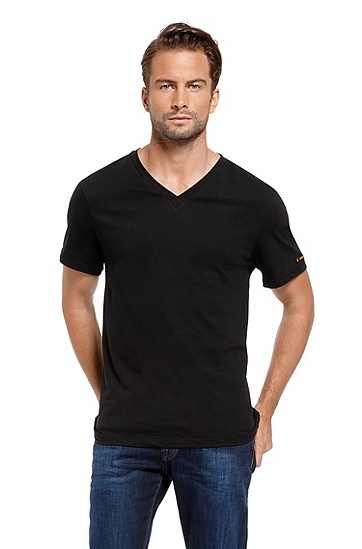 'Innovation' | Cotton V-Neck T-Shirt, Black