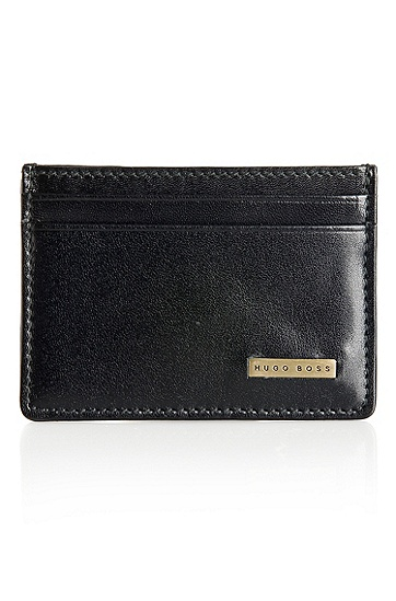 'Bellness' |  Leather Card Case, Black