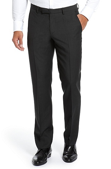 'Shout' | Modern Fit, Virgin Wool Dress Pant, Dark Grey