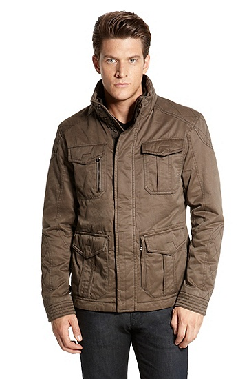 Twill 'Cormay-W' Field Jacket, Medium Brown