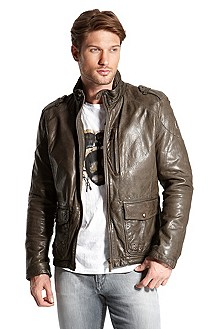 Insulated Leather 'Jendrik-W' Jacket