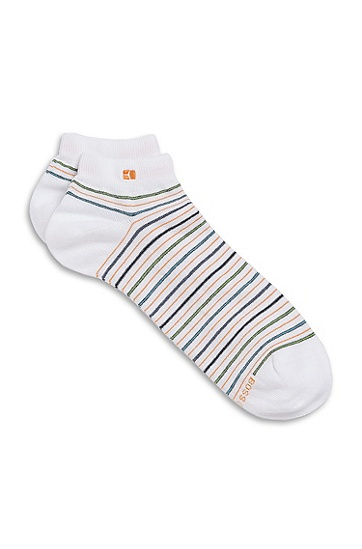 Striped 'AS Design' Casual Socks, White