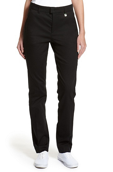 Stretch-Cotton 'Hila' Pant, Black