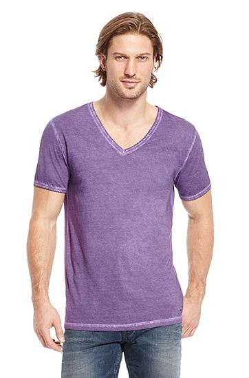 'Toulouse' | Cotton Garment-Dyed T-Shirt, Medium Purple