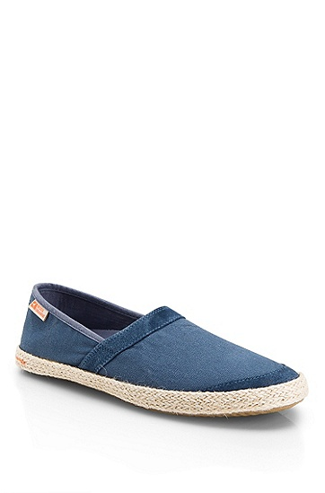 Canvas 'Witton I' Loafer, Open Blue