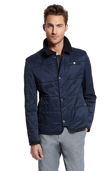 Quilted 'Calder-W' Jacket, Open Blue