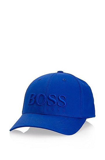 Stretch-cotton Baseball 'Clex' Cap, Medium Blue