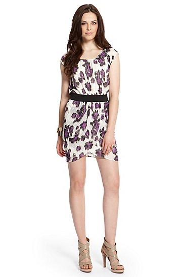 Flocked Silk 'Abella' Dress, Open Miscellaneous