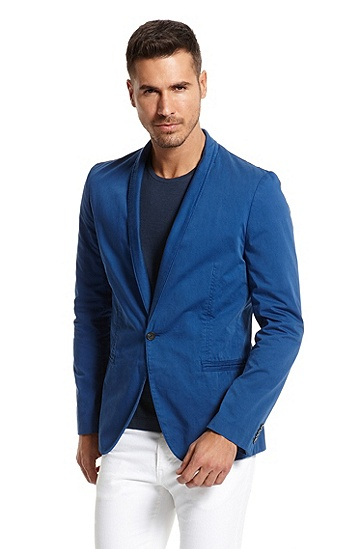 Slim Fit Lightweight Cotton 'Alwano-D' Sport Coat, Bright Blue