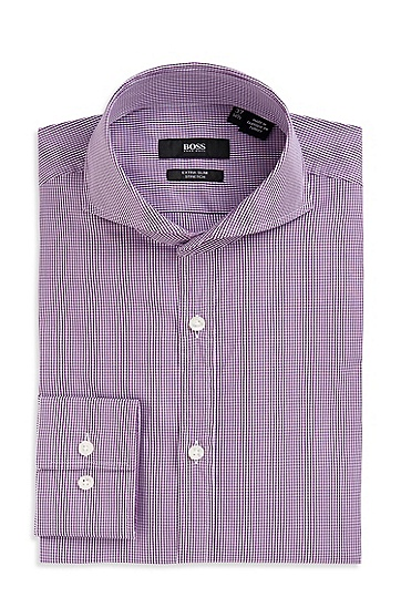Extra Slim Fit Spread Collar 'Helge' Dress Shirt, Medium Purple