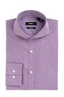 Extra Slim Fit Spread Collar 'Helge' Dress Shirt