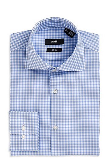 Slim Fit Spread Collar 'Jaron' Dress Shirt, Light/Pastel Blue