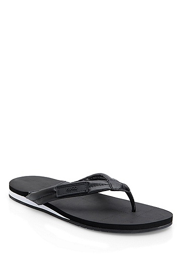 Leather 'Thaco' Sandal, Black