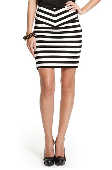 Striped Heavyweight Jersey 'Dilene' Skirt, Open Miscellaneous