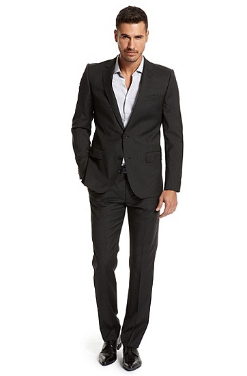Slim Fit 'Aiko1/Heise' Suit, Black