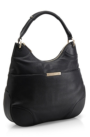 Top Handle Leather Hobo 'Mali' Bag, Black